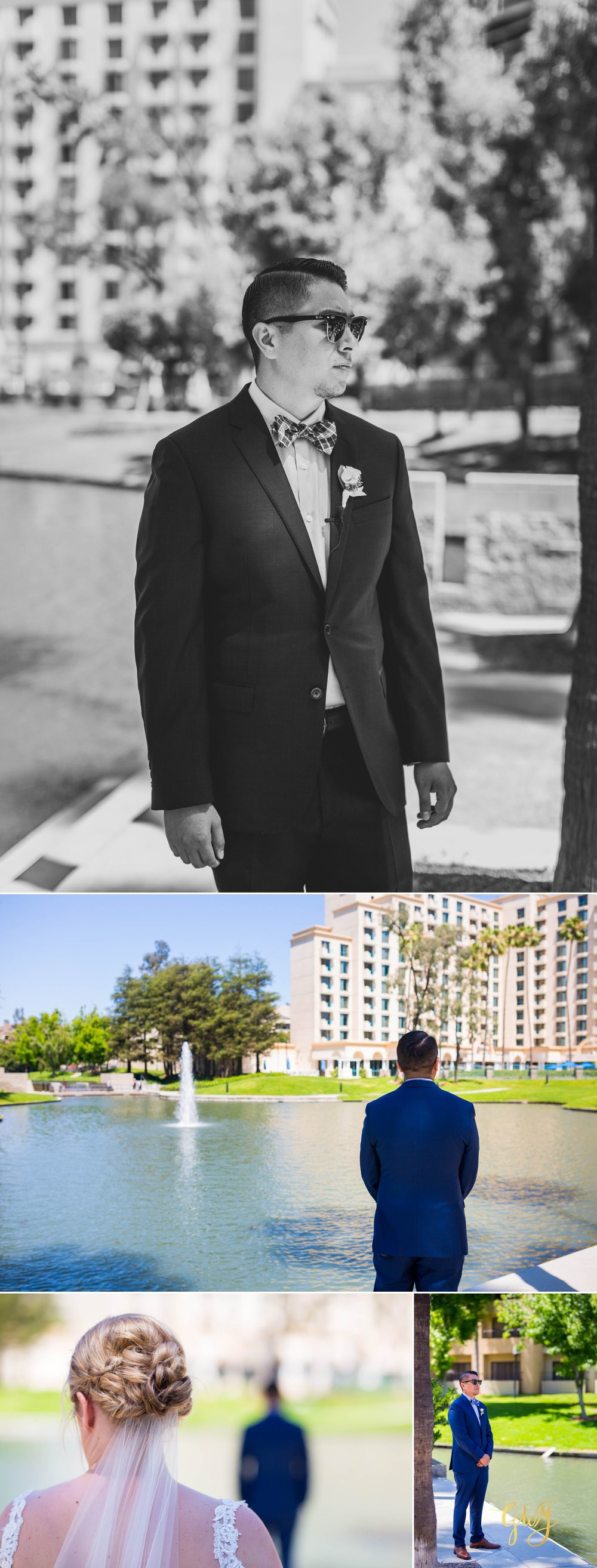 Javier + Kari Avenue of the Arts First Look Vintage Rose Wedding Ceremony Reception by Glass Woods Media 5.jpg
