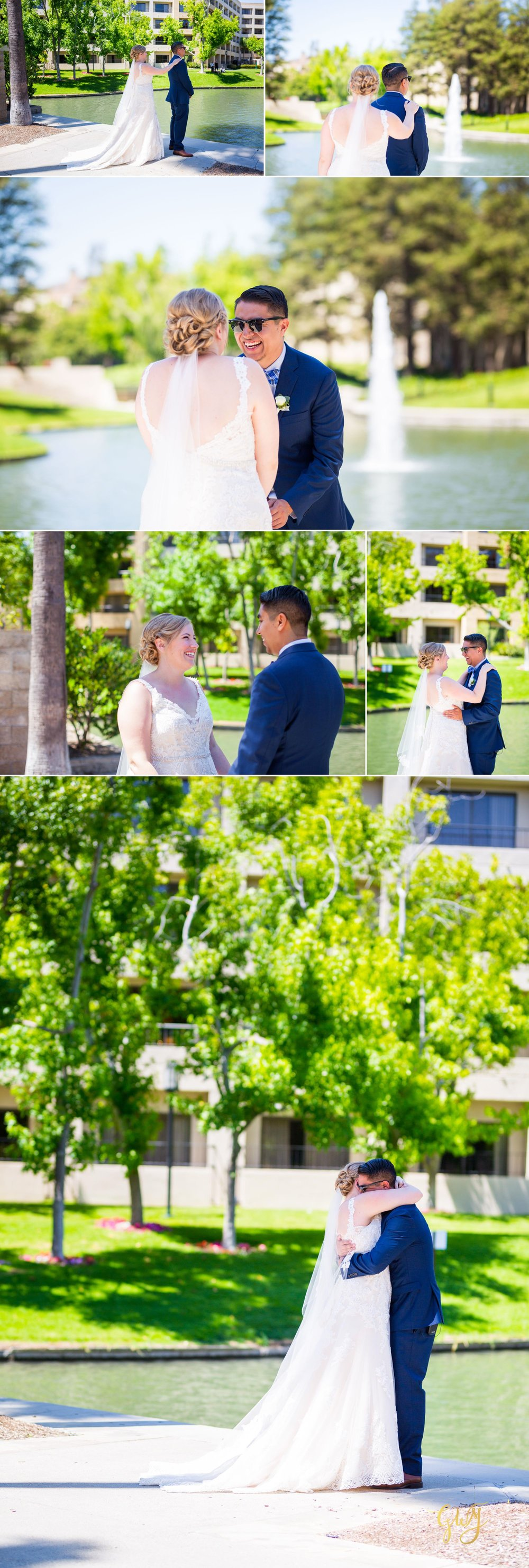 Javier + Kari Avenue of the Arts First Look Vintage Rose Wedding Ceremony Reception by Glass Woods Media 6.jpg