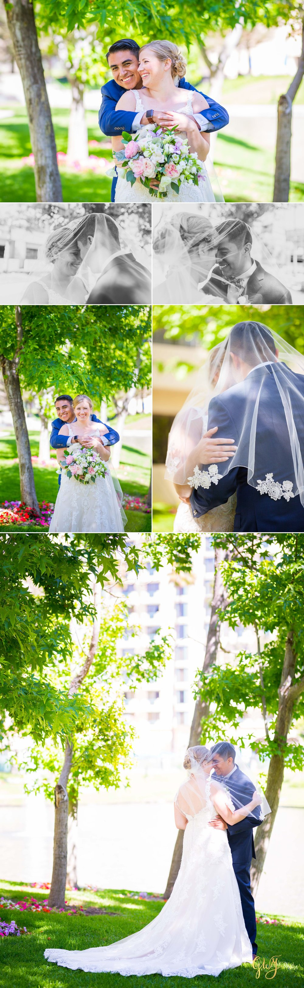 Javier + Kari Avenue of the Arts First Look Vintage Rose Wedding Ceremony Reception by Glass Woods Media 12.jpg