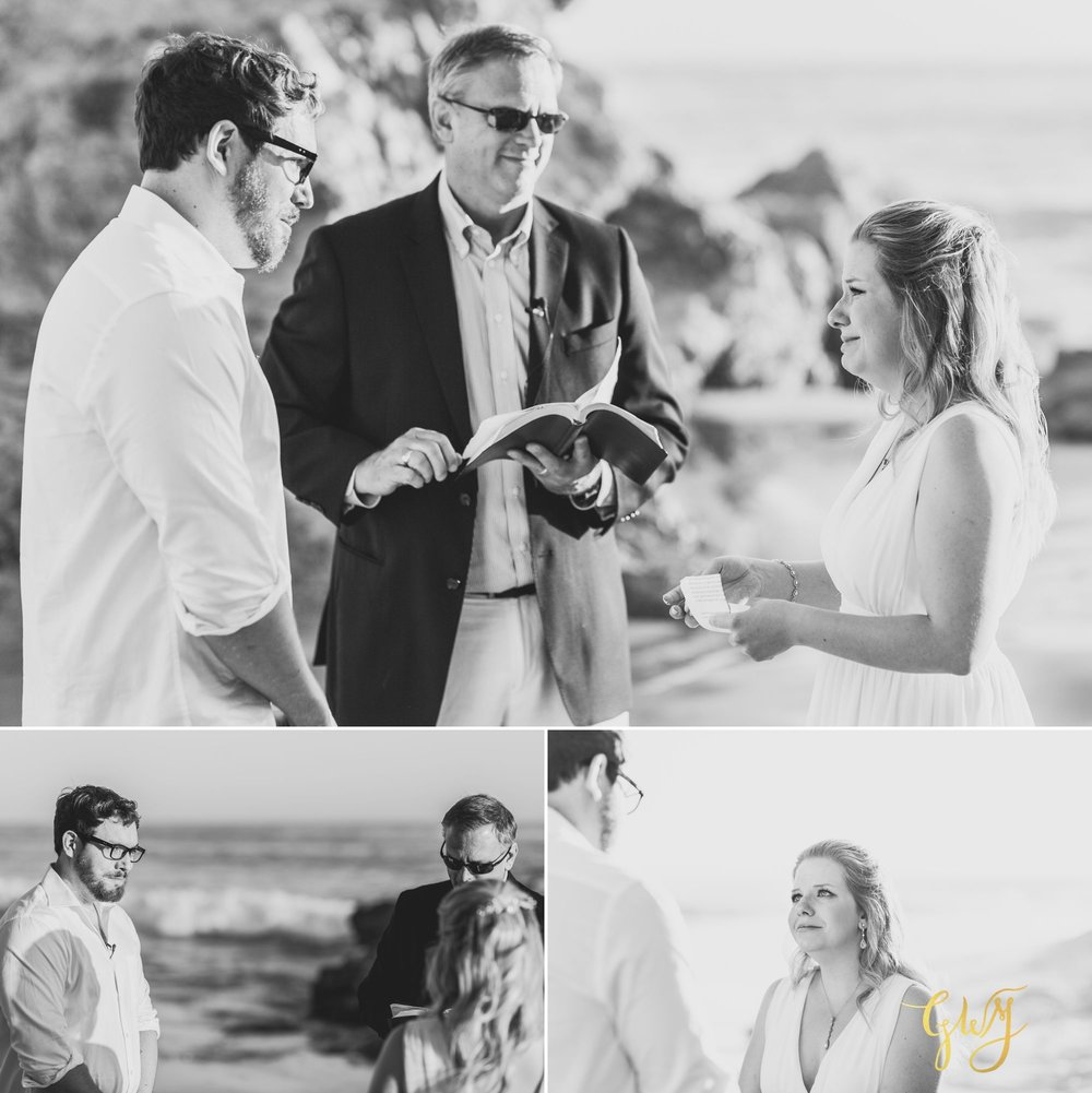 Amanda + Joe Reef Point Crystal Cove Newport Beach Sunset Romantic Intimate Elopement by Glass Woods Media 10.jpg