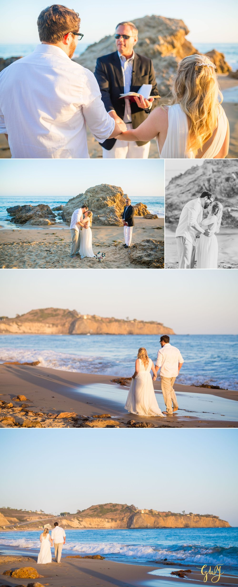 Amanda + Joe Reef Point Crystal Cove Newport Beach Sunset Romantic Intimate Elopement by Glass Woods Media 13.jpg