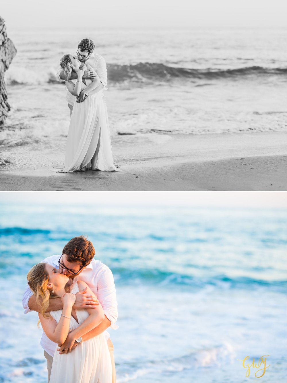 Amanda + Joe Reef Point Crystal Cove Newport Beach Sunset Romantic Intimate Elopement by Glass Woods Media 16.jpg