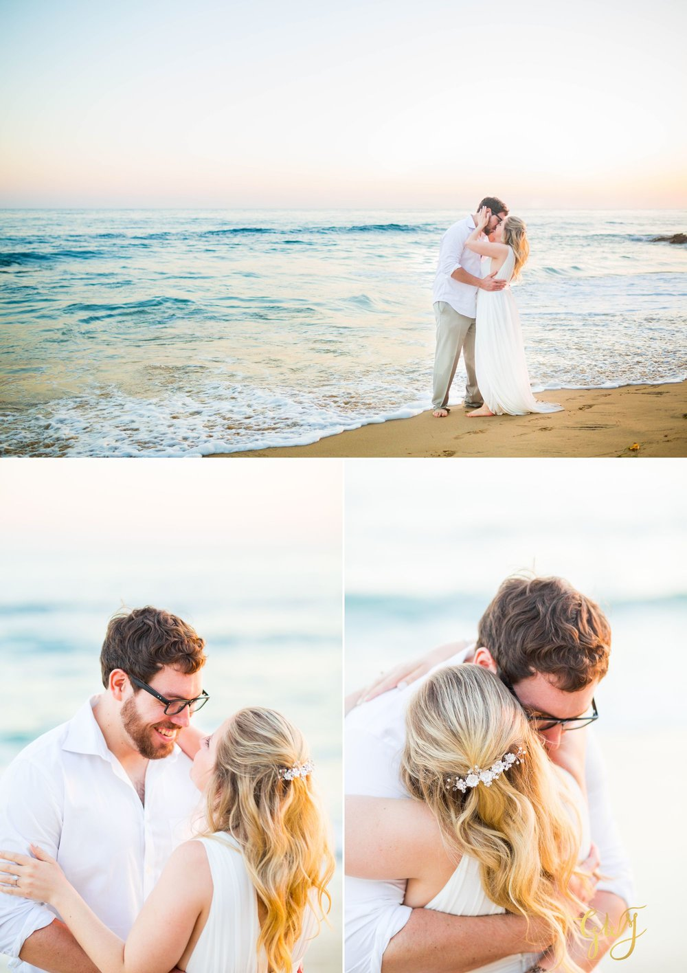 Amanda + Joe Reef Point Crystal Cove Newport Beach Sunset Romantic Intimate Elopement by Glass Woods Media 18.jpg