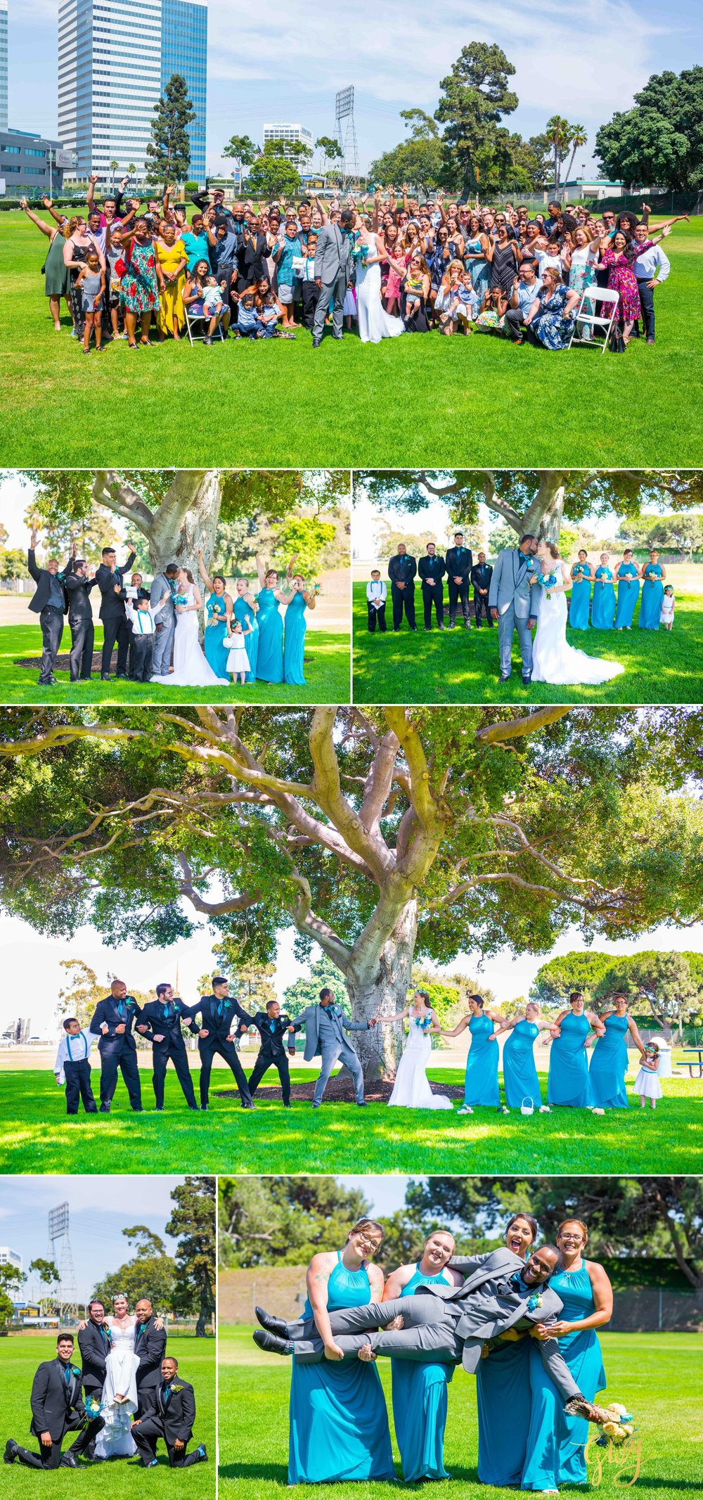 Rebecca + Torand El Segundo Chevron Employee Park Summer Barbados Bajan Wedding by Glass Woods Media 5.jpg