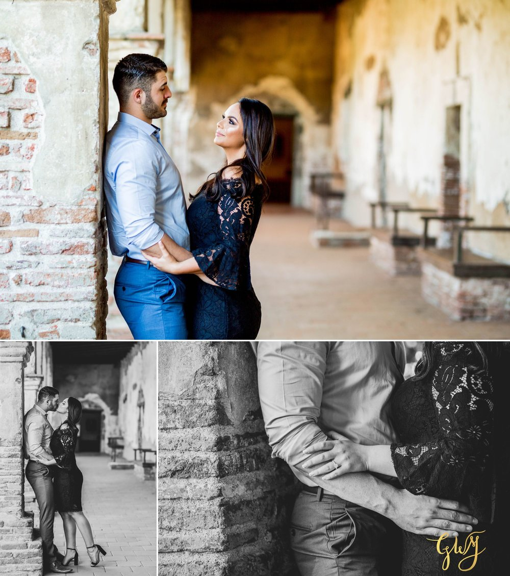 Alejandro + Rachel Mission San Juan Capistrano Strands Beach Dana Point Sunset Engagement by Glass Woods Media 2.jpg