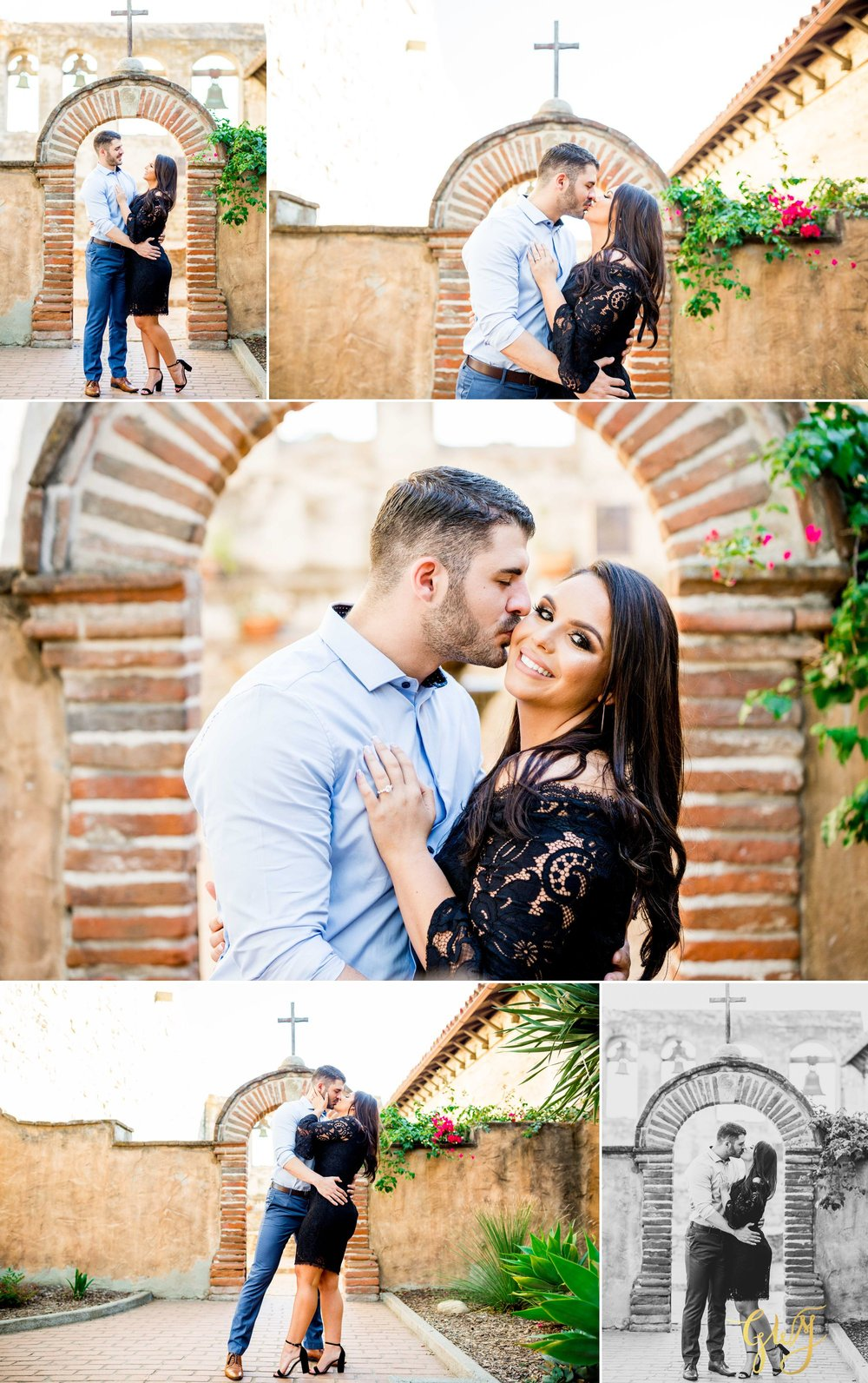Alejandro + Rachel Mission San Juan Capistrano Strands Beach Dana Point Sunset Engagement by Glass Woods Media 4.jpg