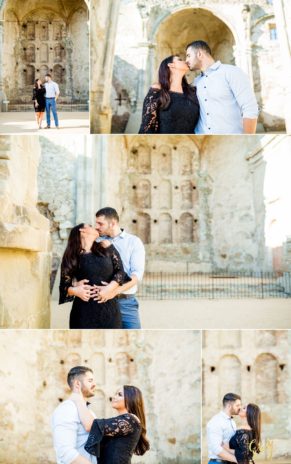 Alejandro + Rachel Mission San Juan Capistrano Strands Beach Dana Point Sunset Engagement by Glass Woods Media 7.jpg