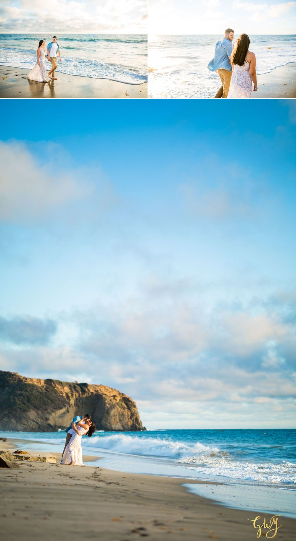 Alejandro + Rachel Mission San Juan Capistrano Strands Beach Dana Point Sunset Engagement by Glass Woods Media 11.jpg