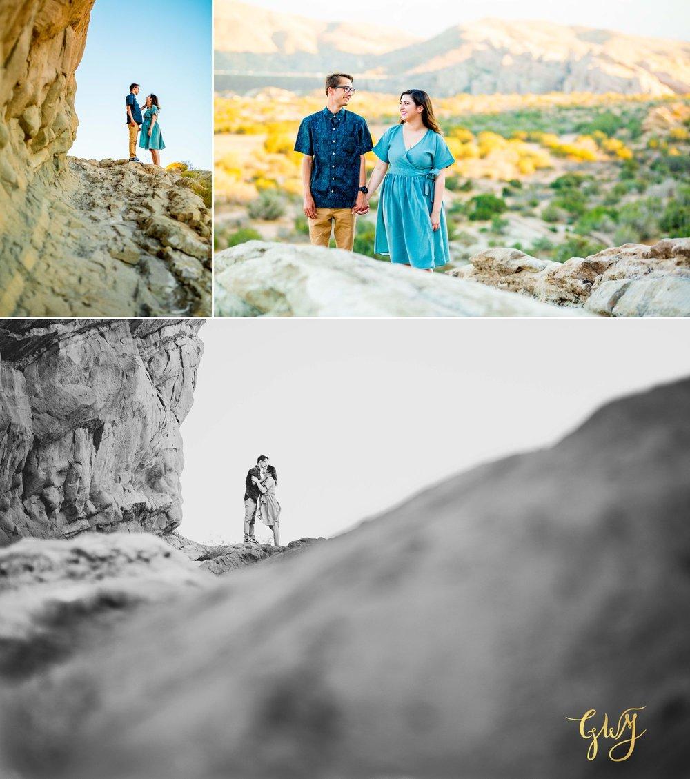 KJ + Maddie Vasquez Rocks Adventurous Hiking Outdoors Engagement Session by Glass Woods Media 7.jpg