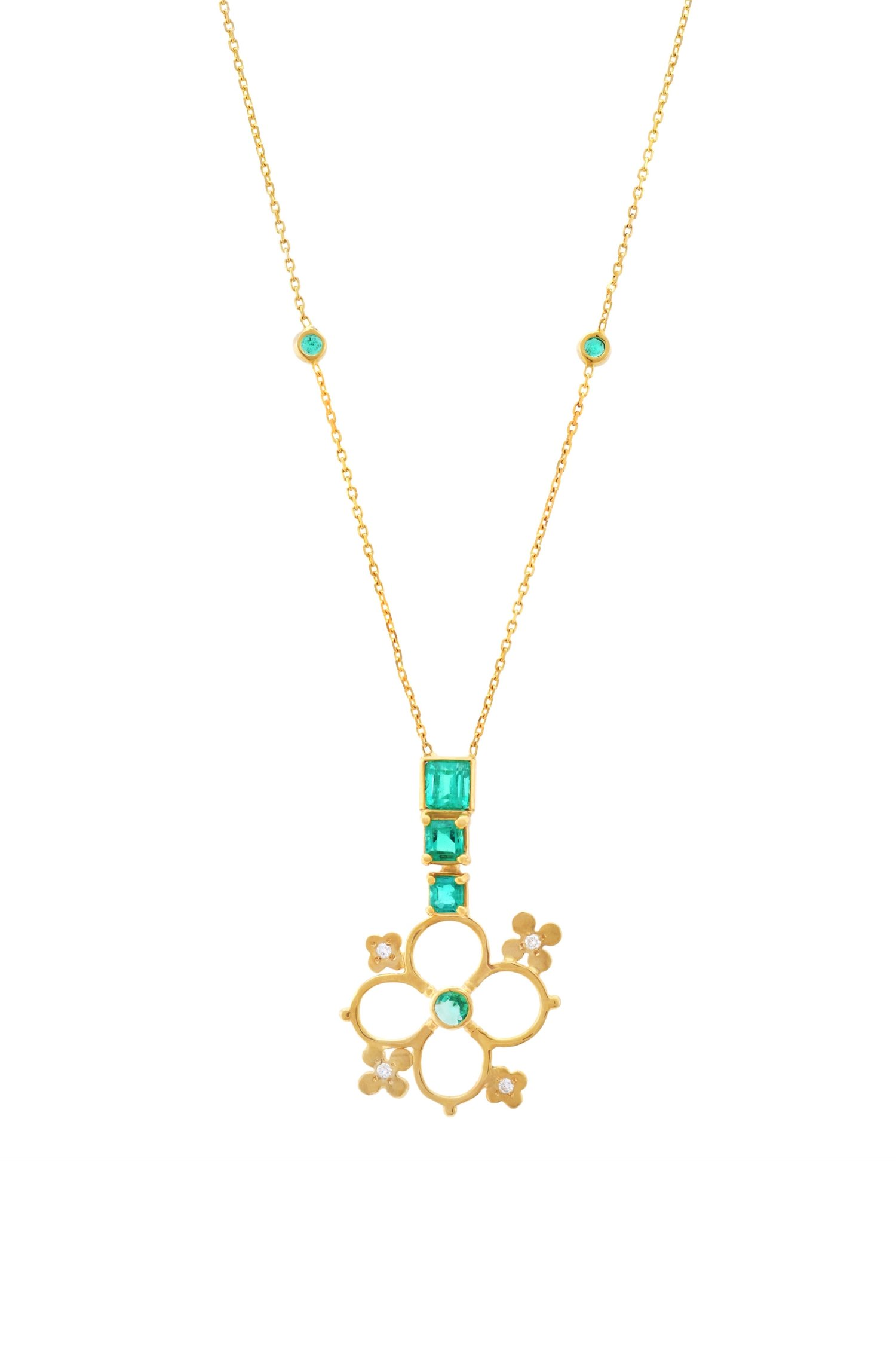 ruby copy set necklaces gold emerald attiyal dsc jewellery necklace