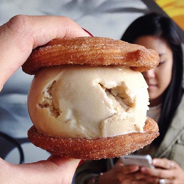 Make sure to get your churro ice cream sandwich fix this week before we close for the holiday weekend!  We're open every night til 11pm! 📸: @wanderthecity