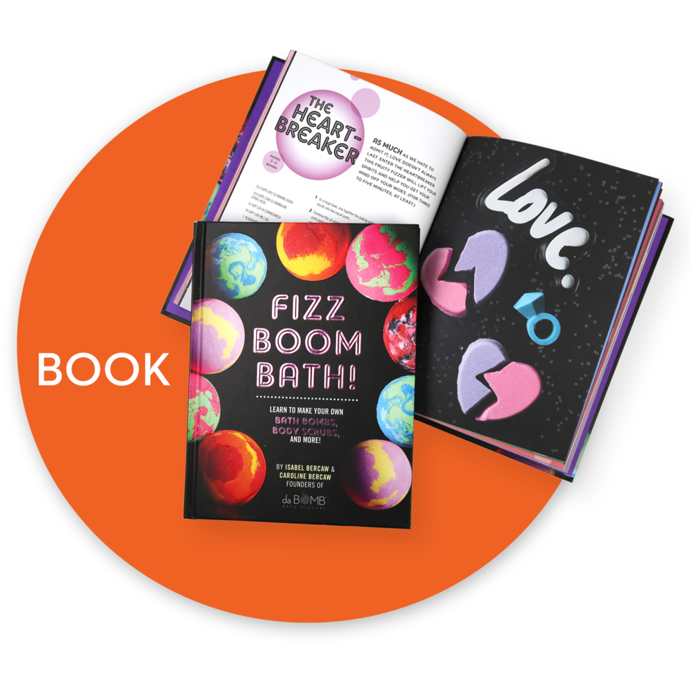 Fizz Boom Bath DIY bath bomb book. Links to book product page.