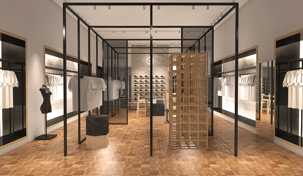 Projeto da loja Cartel 011 no shopping JK Iguatemi