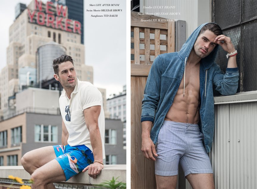 CHAD WHITE - STRIPED SHORTS DENIM HOODIE.jpg