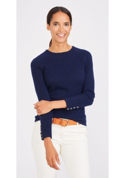 ANGIE NAVY SWEATER TAN BELT WHITE TROUSERS.jpg