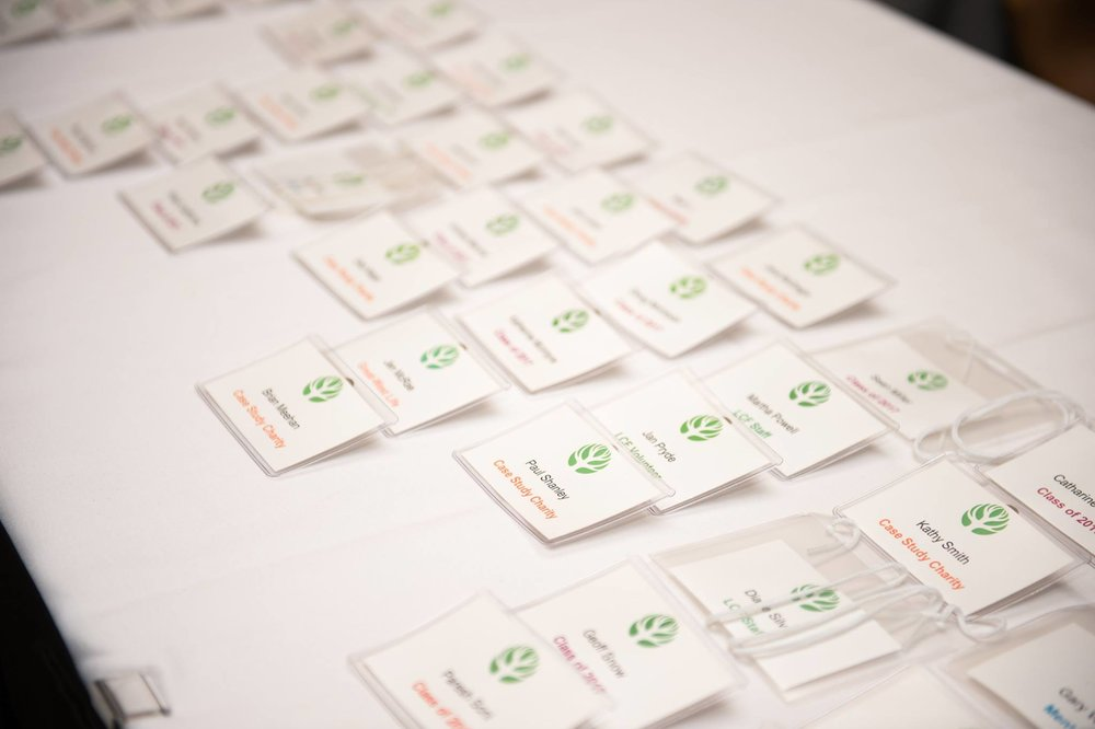 Engage! London name tags are worn for each meeting. Photo credit: London Community Foundation