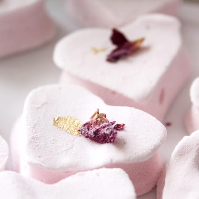 Raspberry and Lemon French marshmallows