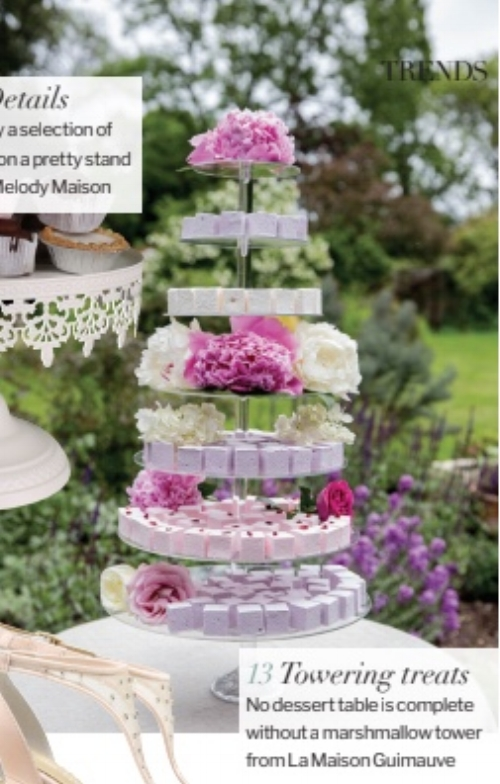 LMG Marshmallow Tower as featured in Wedding Ideas Magazine April 2018