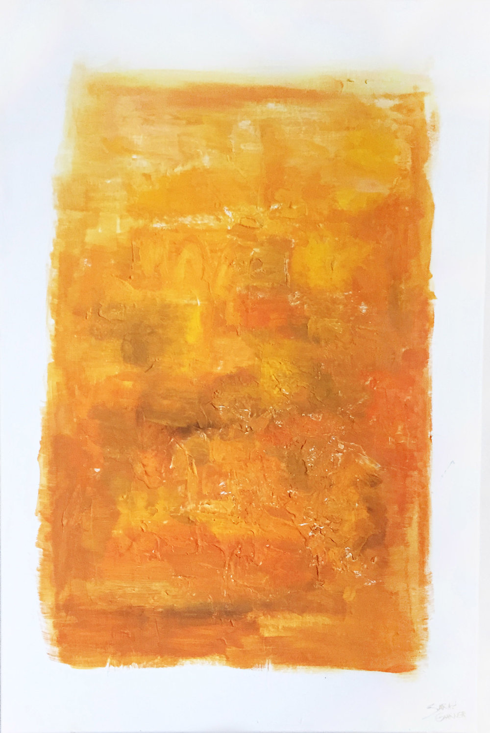 """A Study of Orange"" SOLD"
