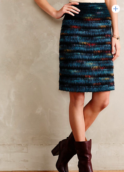 Anthropologie Feathered Wool Skirt.