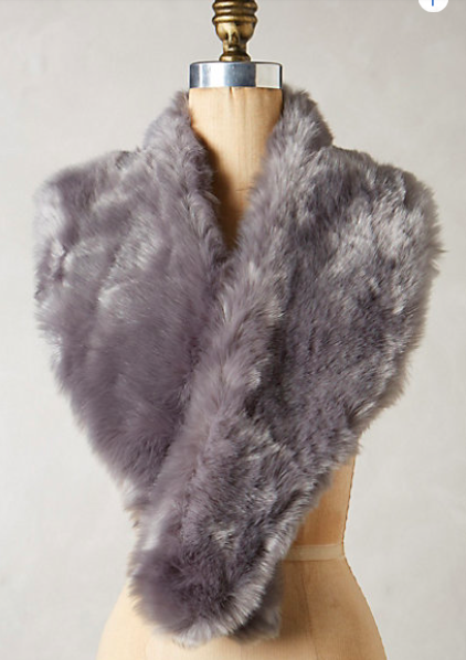 Anthropologie Faux-Fur Stole.