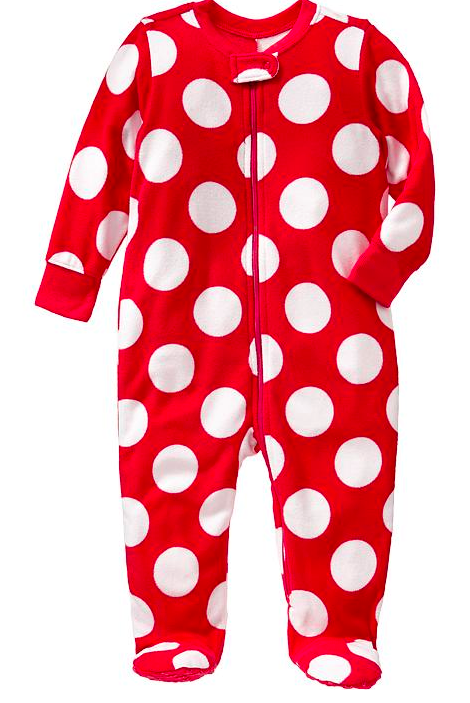 Old Navy Performance Fleece Footed Baby Pajamas.