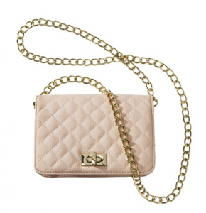 Xhileration Blush Small Quilted Crossbody, $19.99.