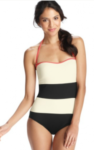 LOFT Black and White Colorblock Swimsuit, $79.50.