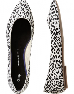 Gap Printed Pointy Flats, $49.99.
