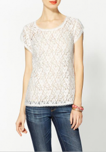 Harlow Lace Tee, $58.