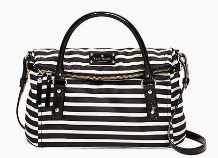 Kate Spade Nylon Stripe Small Leslie Bag, $318.