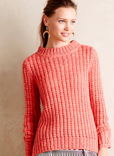 Anthropologie Waffle Stitch Pullover.