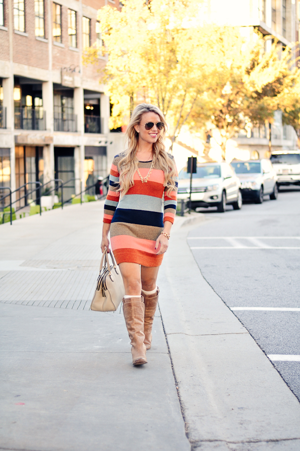 5c2e1f20c4d1 outfit details    anthropologie colorstack sweater dress    kendra scott  finley fringe necklace    stella   dot deja vu stud earrings    ray-ban  large ...