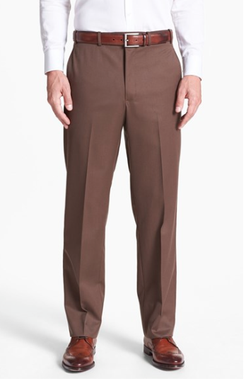 Flat Front Medium Break Trousers :: Nordstrom