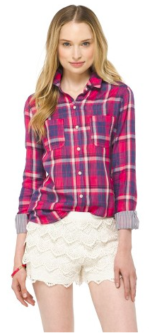 Mossimo Plaid Shirt via Target {available in multiple colors}, $22.99.