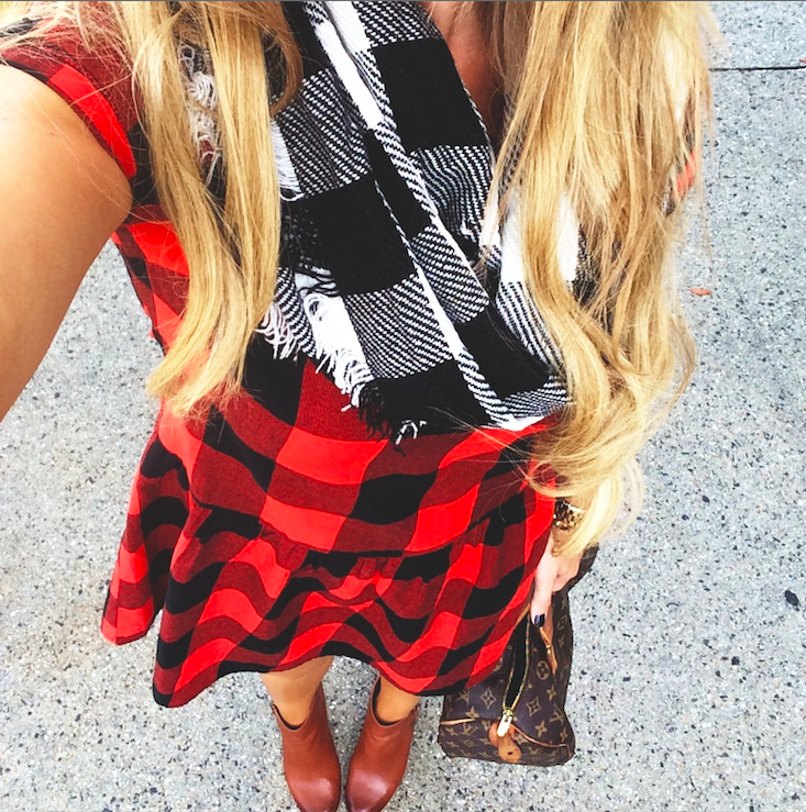 Steve Madden Buffalo Plaid Infinity Scarf via Nordstrom. Available in multiple colors, $32.