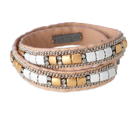 Stella & Dot Cady Leather Wrap Bracelet.