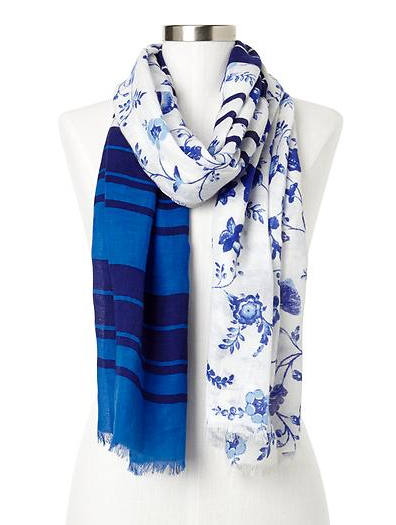 Gap Floral & Striped Scarf.