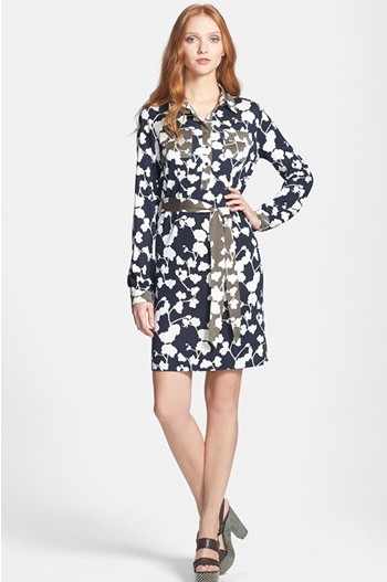 Diane von Furstenberg Belted Shirtdress.