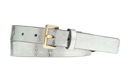 J.Crew Crackled Metallic Leather Belt.
