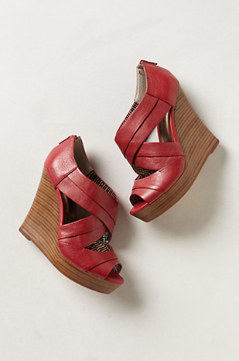 Anthropologie Unwrapped Wedges.