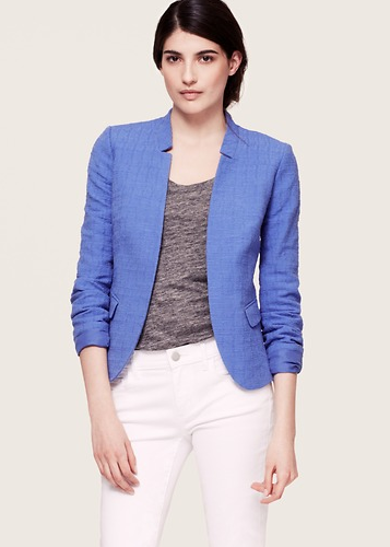 LOFT Textured Open Jacket.