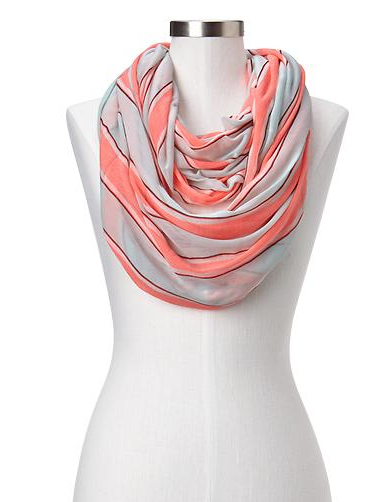Gap Striped T-Shirt Infinity Scarf.