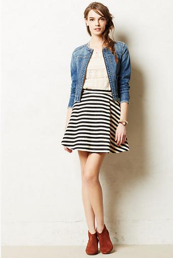 Anthropologie Stripedswing Skirt.