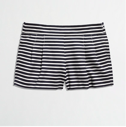 J.Crew Factory Pleated Stripe Short.