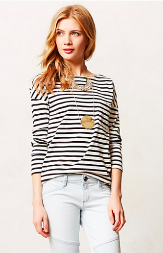 Anthropologie Tapered Stripe Tee.