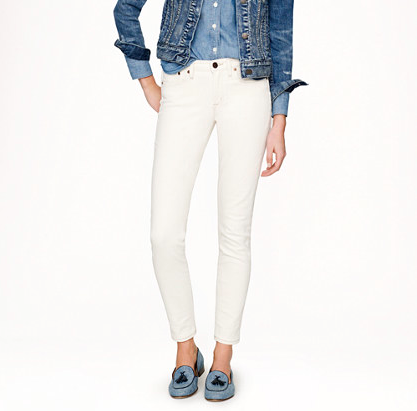 "J.Crew Stretch Toothpick Jean. {J.Crew has recently ""re-formulated"" their Toothpick denim to include more stretch, which makes these more flattering and comfortable than last season's.}"