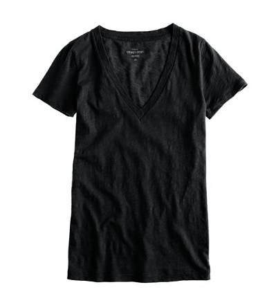 J.Crew Vintage Cotton V-neck Tee. $29.50.