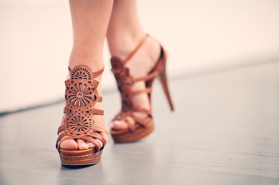 Isola Delanna Sandals. {Photo by Amanda Pulley.}