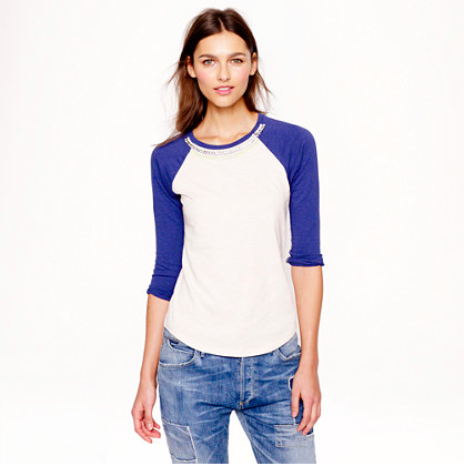 J.Crew Jeweled Baseball Tee.
